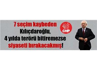 CHP Genel Başkanı Kılıçdaroğlu, Terörü 4 Yıl İçinde Bitireceğini Söylemiş...