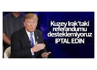 """ABD Açıklamasının İngilizcesi """"Referandumu Tanımıyoruz"""" Türkçesi """"Dokunmayın Barzanime"""", Kürtçesi..."""