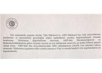 ABD ve Türkiye Karşılıklı Olarak Vatandaşlarına Vize Başvurusunu Askıya Aldı.