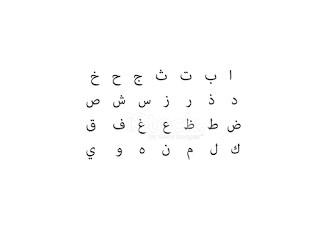 Eski Harfler, Arap Alfabesi