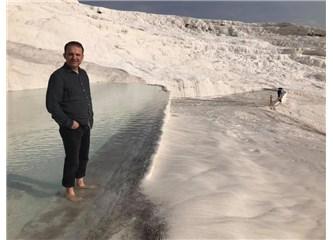 Pamukkale Travertenleri; Kaplıca Suları ile Çökelmiş Karbonat Minerallerinin İzdivacı Gibiydi!