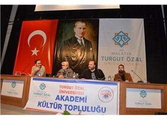 Sinemacılar Malatya Turgut Özal Üniversitesinde Öğrencilerle Buluştular.