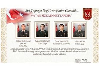 """""""Türkiye Şehitlerini Uğurluyor!.. """"Sizi Toprağa Değil, Yüreğimize Gömdük... Vatan Size Minnettardır!"""
