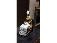 America/ NewJersey /Philadelphia Gorgeous Park içindeki Sanat Galerisi /İncili kadın