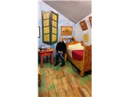 America/ NewJersey /Philadelphia Gorgeous Park içindeki Sanat Galerisinde Van Gogh'un odasındayım
