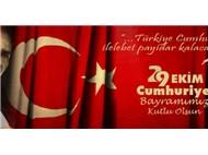 Cumhuriyet Bayramını 'Coşku ve Heyecan İçinde' Kutluyoruz...