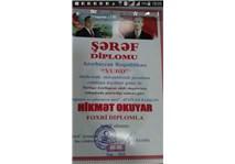 Azerbaycan'dan Bir Ödül Gelmiş Özü Okyar.