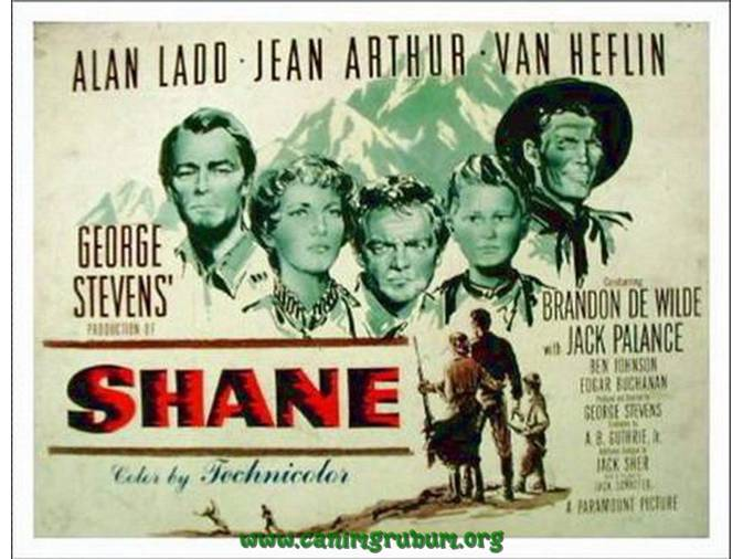 Image result for shane 1953 movie poster